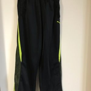Boys large puma black gym style pants new with tag